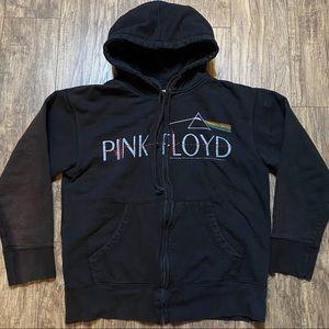 Pink Floyd Hooded Sweatshirt Full Zip Black Size M